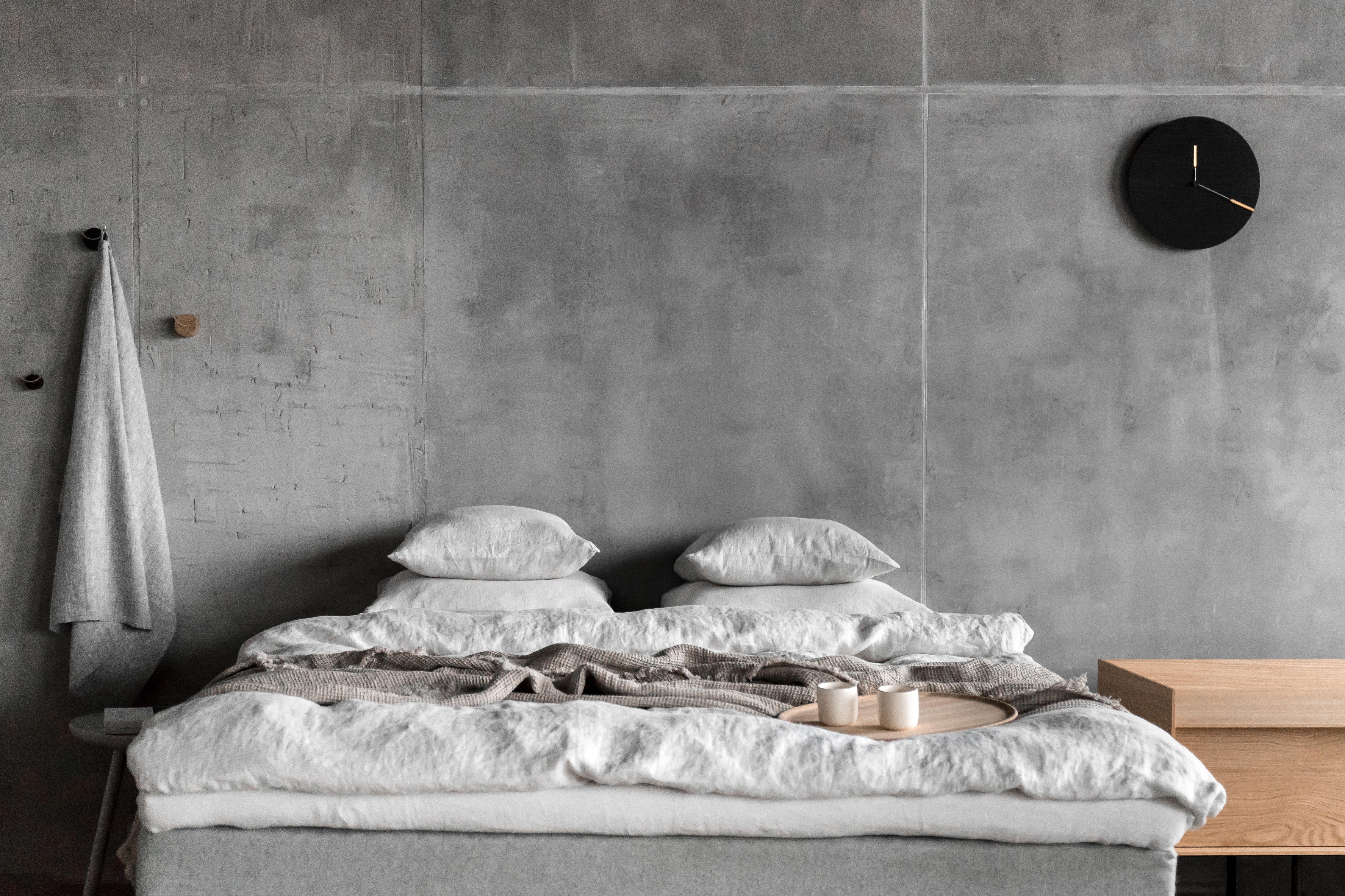 biancheria da letto in lino