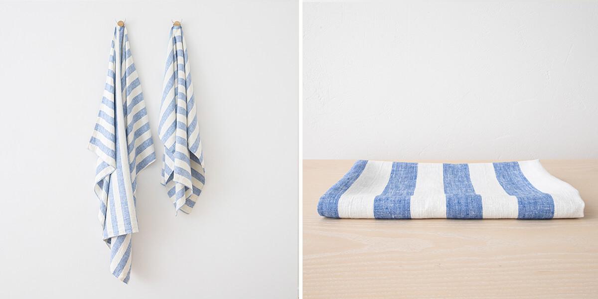 Asciugamano-in-lino-Philippe-Blue