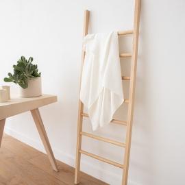 Asciugamano da bagno in lino bianco a strisce tessitura huckaback Lucas