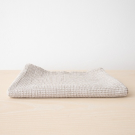 Asciugamano da bagno in lino e cotone naturale Wafer