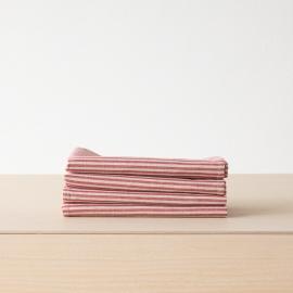 Cesto in lino e cotone rosso a strisce Jazz