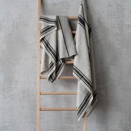 Asciugamano da bagno in lino nero Provence