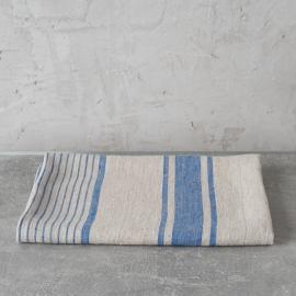 Asciugamano da bagno in lino blu Provence