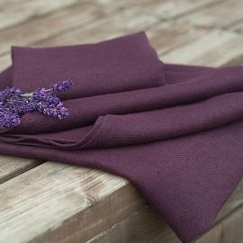 Asciugamano da bagno in lino color melanzana Lara