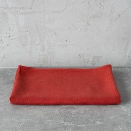 Asciugamano da bagno in lino arancione tessitura huckaback Lara