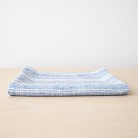 Blu e Bianco Asciugamano da bagno in Lino Multistripe
