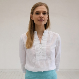 Bianco Camicia in Lino Toby