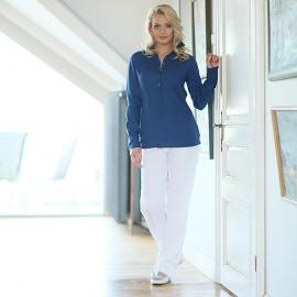 Camicia in lino color corona blu Alma