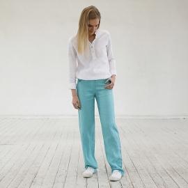 Pantaloni in lino acqua Alma
