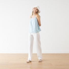 Pantaloni in lino color bianco Alma