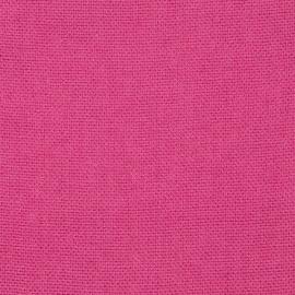 Campione Di Tessuto Di Lino Rosa Brillante Rustico