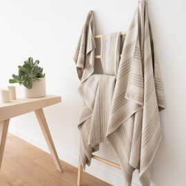 Set di asciugamani in lino naturale Linum