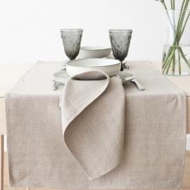 Guida da tavolo in lino color naturale Lara