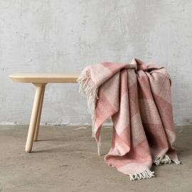 Telo in lana color rosa canyon Luigi