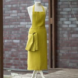 Grembiule in lino color limone Lara