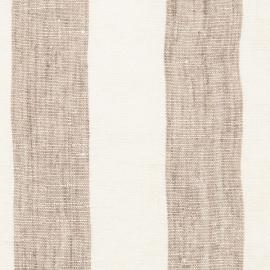 Tessuto di lino bianco panna e grigio Philippe