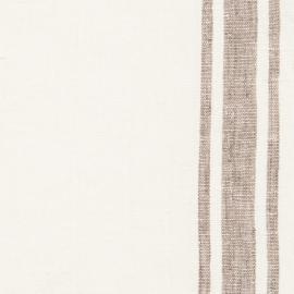 Tessuto di lino bianco panna e grigio Tuscany
