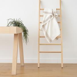 Bianco Panna Grigio Asciugamano da bagno in Lino Tuscany