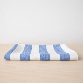 Bianco Panna Grigio Asciugamano da bagno in Lino Philippe