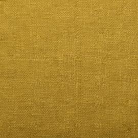 Tessuto di lino color limone prelavato Lara