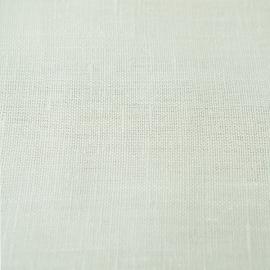 Tessuto di lino bianco panna prelavato