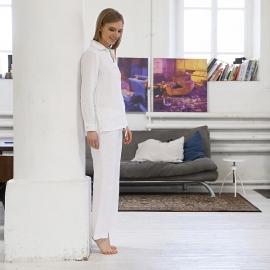 Pigiama in lino color bianco Alma