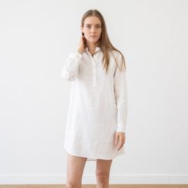 Camicia da notte in lino indaco Alma