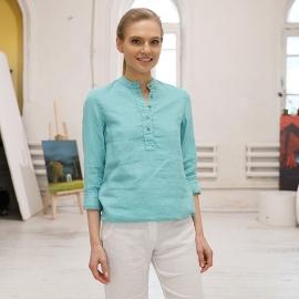 Camicia lino acqua Toby