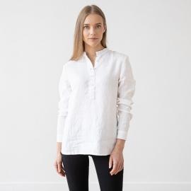 Camicia in lino color bianco Toby