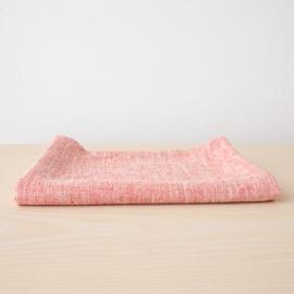 Asciugamano da bagno in lino rosso Francesca