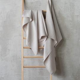 Argento Asciugamano da Bagno in Lino Lara
