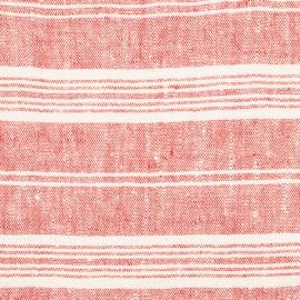 Tessuto di lino rosso Multistripe