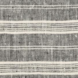 Tessuto di lino nero Multistripe