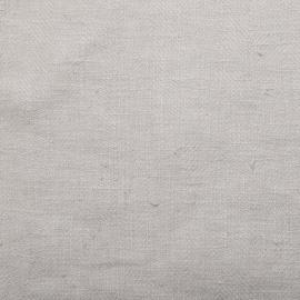 Tessuto di lino color argento prelavato Lara