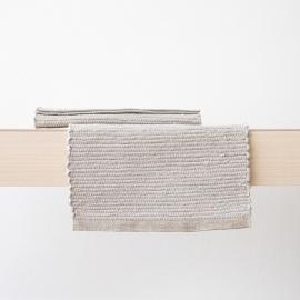 Tovaglietta in lino tessuta a mano Silver Lara
