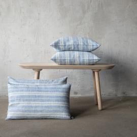 Lino Cuscino Blue White Multistripe