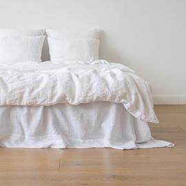 Campione di tessuto di lino bianco Louisa