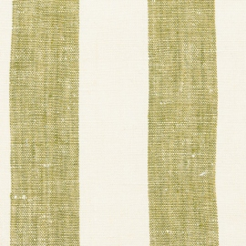 Campione di tessuto di lino verde oliva Philippe