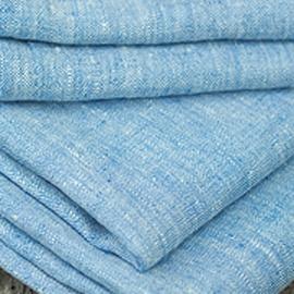 Campione di tessuto di lino blu Francesca