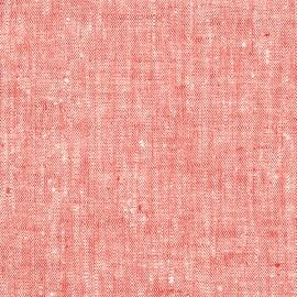 Tessuto di lino rosso Francesca
