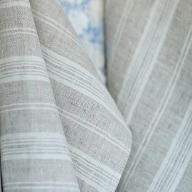 Tessuto di lino betulla prelavato Multistripe