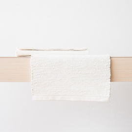 Tovaglietta in lino tessuta a mano Off White Lara