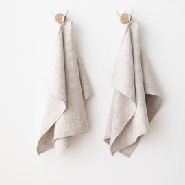 Set di 2 Asciugamani da Mano in Lino Birch Francesca