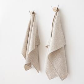 Set di 2 asciugamaniper ospiti in lino naturale Provence
