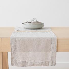 Tovaglietta in Lino Argento Stone Washed