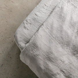 Taupe Lenzuolo con Angoli in Lino Stone Washed