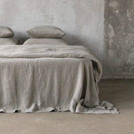 Taupe Lenzuolo in Lino Stone Washed