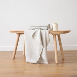 Asciugamano da Bagno in Lino Argento Washed Waffle