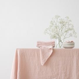Tovaglia in lino rosa Stone Washed