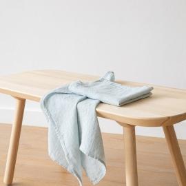 Set di 2 Asciugamani da Mano in Lino Ghiaccio Washed Waffle